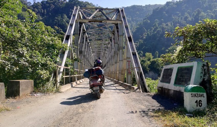 The state border of Manipur and Mizoram. The road connecting these two states is one of the dangerous roads in India.