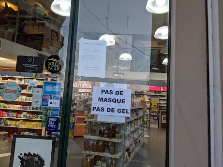 No masks and no hand sanitizer left at this store in Nice.