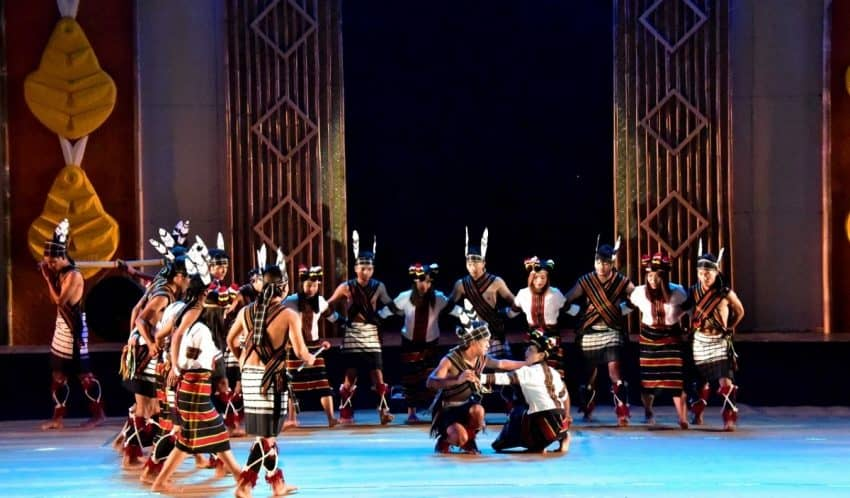 Artists performing at Bheigyachandra Open Air Theatre in Imphal, Manipur. Although the festival is celebrated throughout the state, it is in the Imphal were significant functions take place.