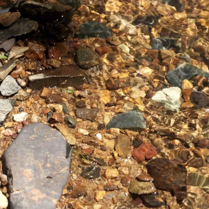Reed Gold Mine! The rocks in Little Meadow Creek