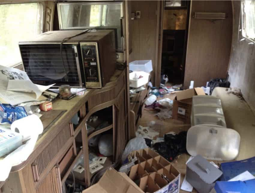 A before renovation look at the 1972 Airstream.