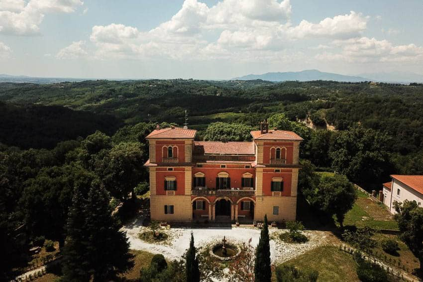 Villa Lena in Tuscany. David Kaliga photo.