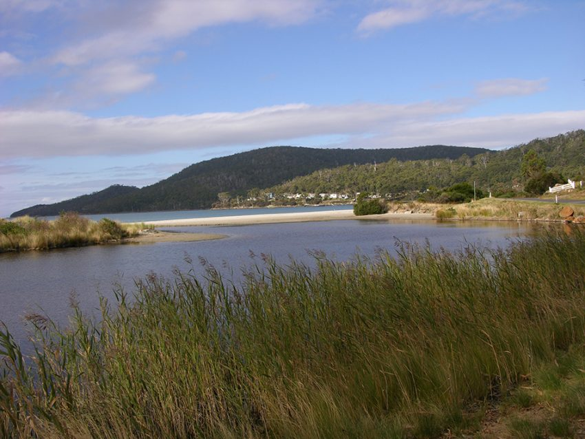 Adventure Bay township sits on the edge of this protected inlet