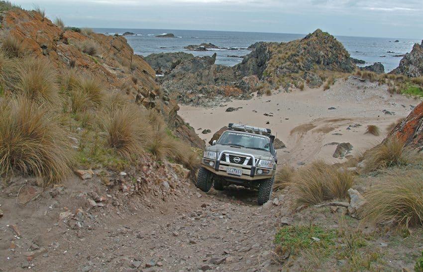 Beach track near Couta Rocks on Tasmania. Ron Moon photos