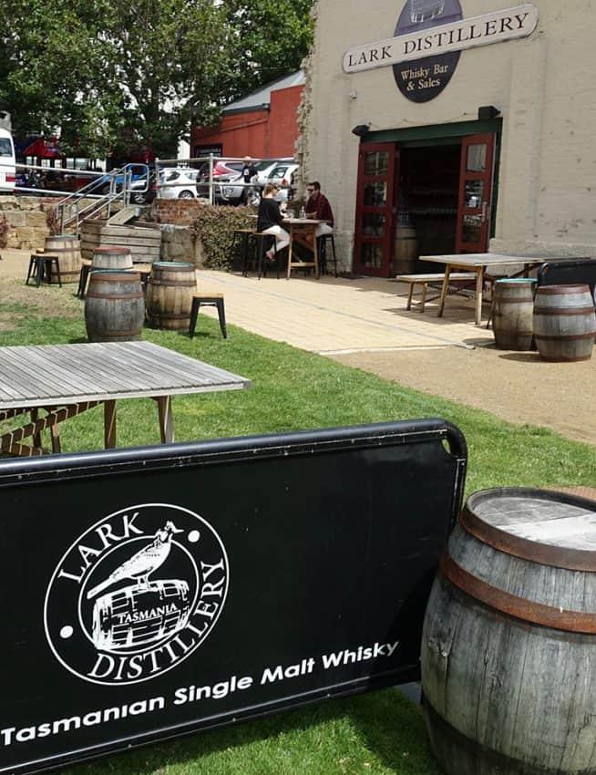 Tasmania has many fine distilleries, like Lark Distillery.
