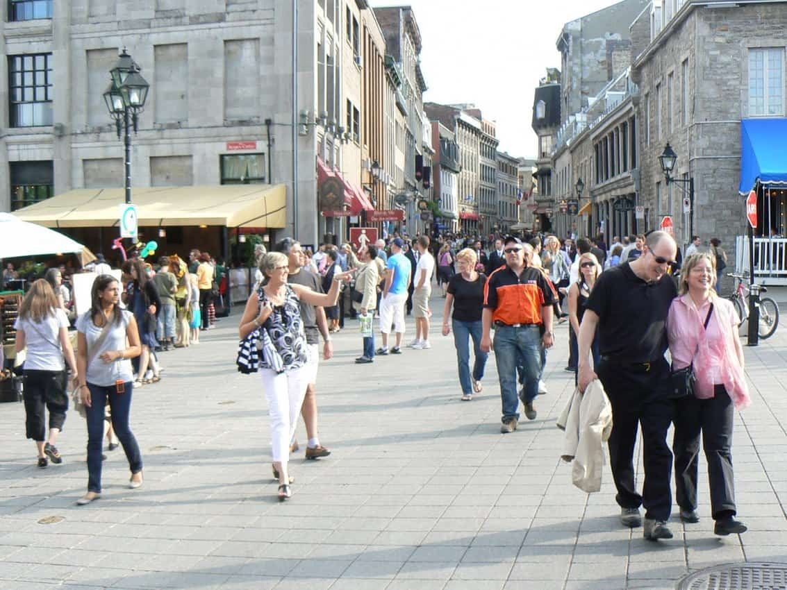 Walking around Montreal Quebec: People watching at its best.