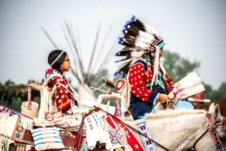 Young women on horses