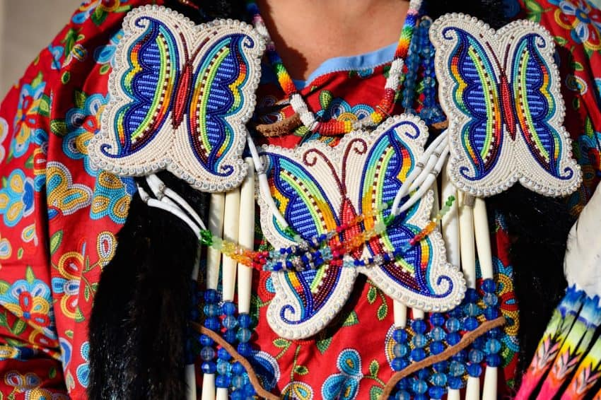 Elaborate beadwork is the hallmark of Indian dress. The artistry of beading is passed down thru the generations.