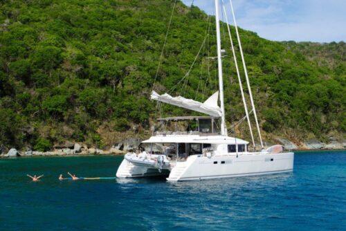 A catamaran in Croatia.
