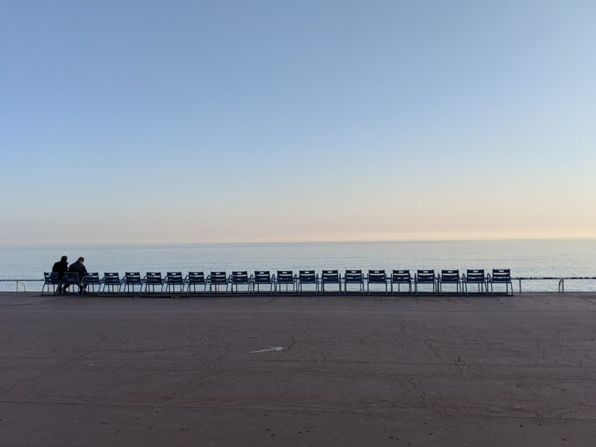 Nice, France's normally crowded seafront during the lockdown of 2020. Christopher Elliott photos.
