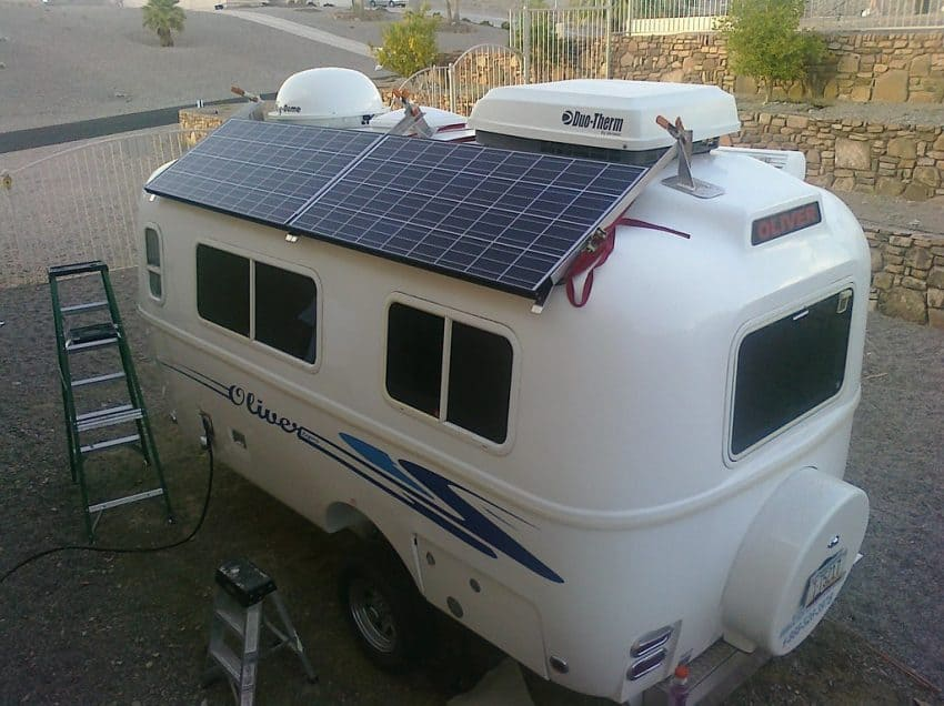 Most vans use solar power to power batteries