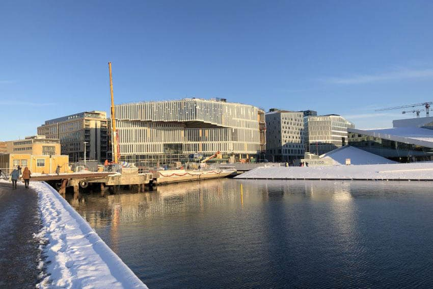 The Deichmann Bjørvika public library plans to open June 18th, 2020 in Oslo, Norway.