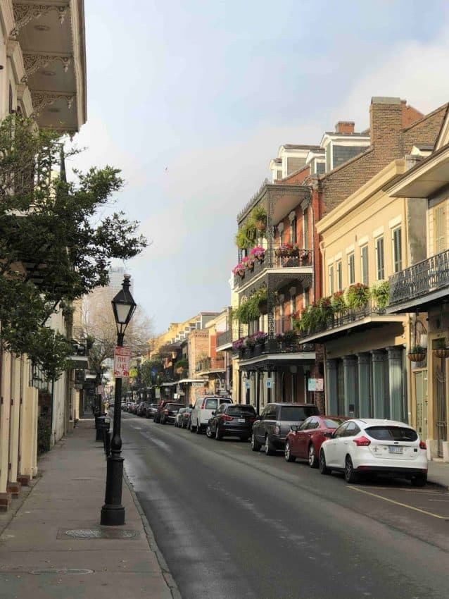 An empty French Quarter Street, March 2020. Tanya Birch photos.