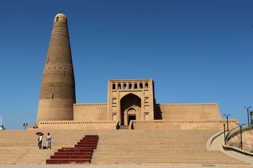 The impressive Emir Minaret and Uyghur mosque.