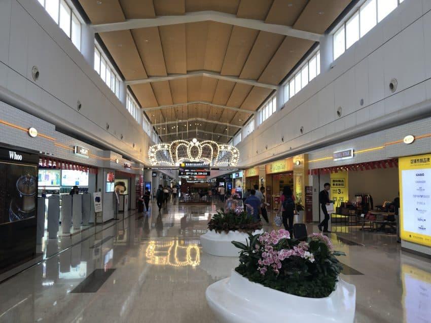 An airport terminal in Hainan Island China.