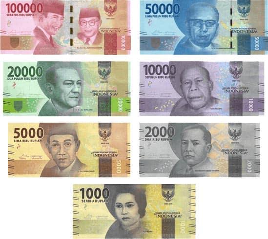 Indonesian Rupias.