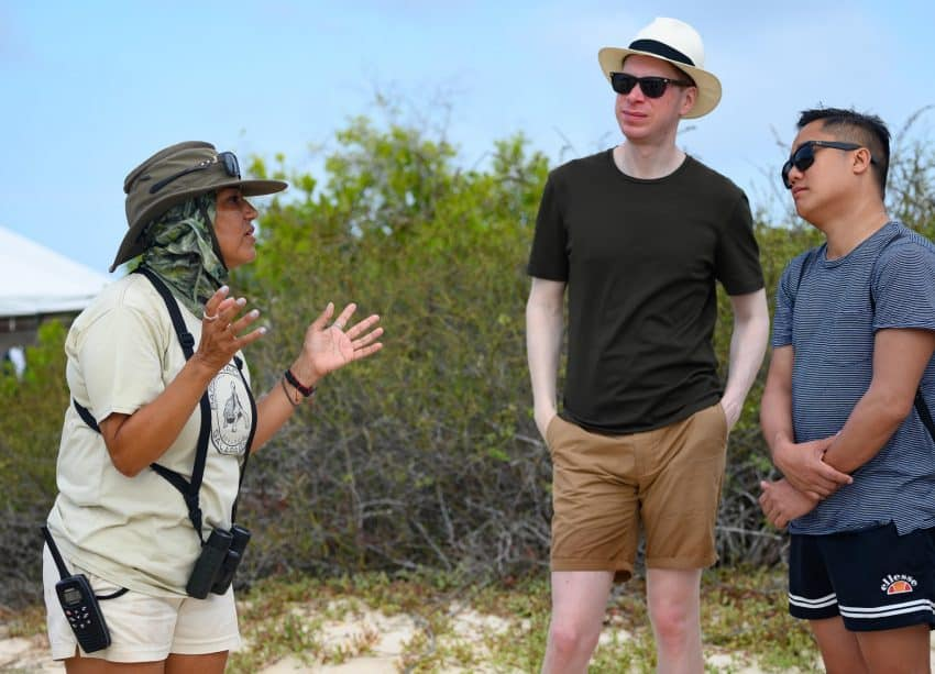Naturalist guide Ceci stops frequently on guided walks to answer questions and share her in-depth knowledge of the Galapagos islands.