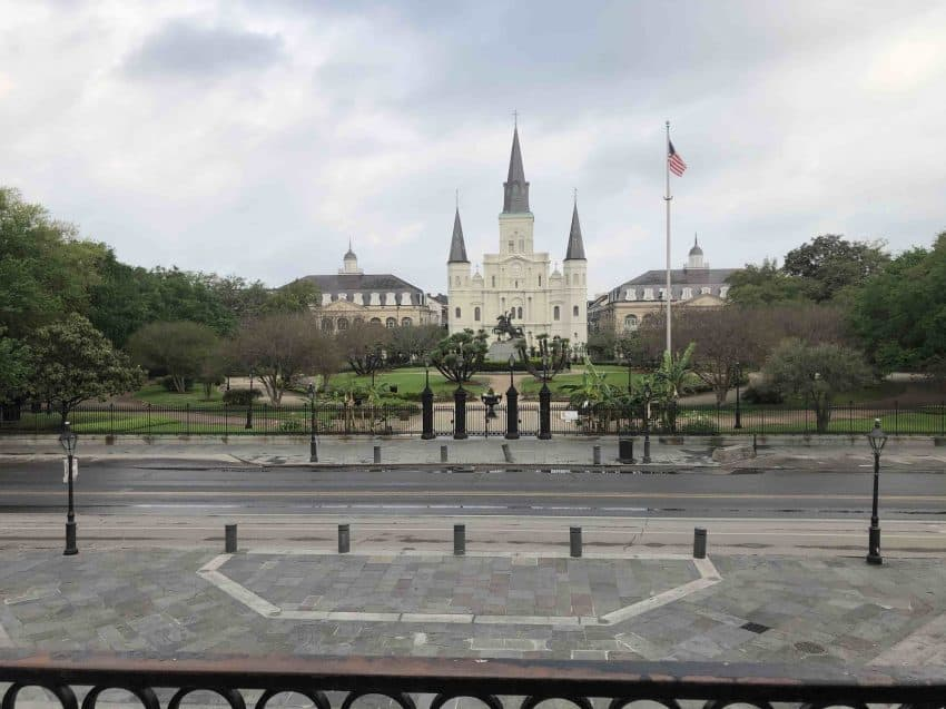 Jackson Square & the St. Louis Cathedral during the pandemic