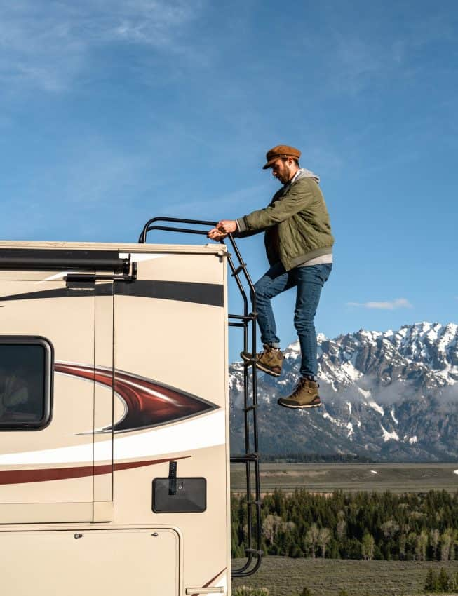 RV life up in the Grand Tetons of Wyoming. RV Share photo.