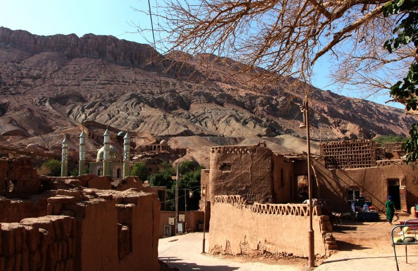 Tuyugou Village, a valley amidst the Flaming Mountains.