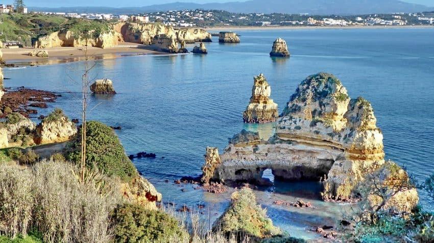 The Algarve Sea, another popular Portugal destination.
