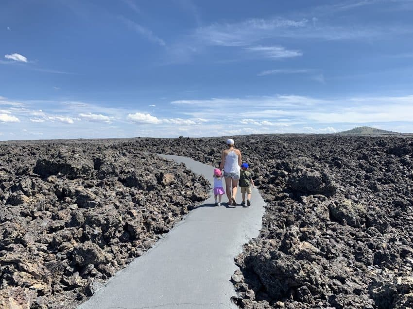 Stop #7 - Caves Trail in Craters of the Moon NM (lava rocks, lava tubes, caves galore)