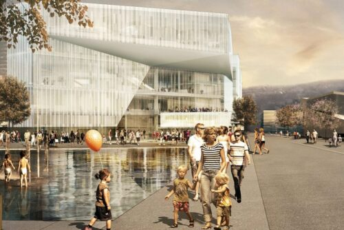 A rendition of what the Oslo Public Library will look like