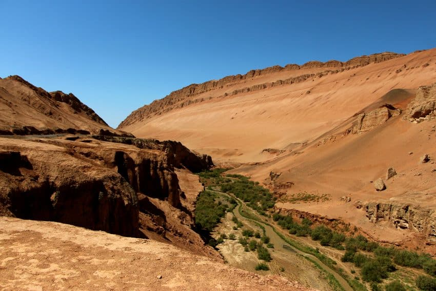 A valley among the famous Flaming Mountains.