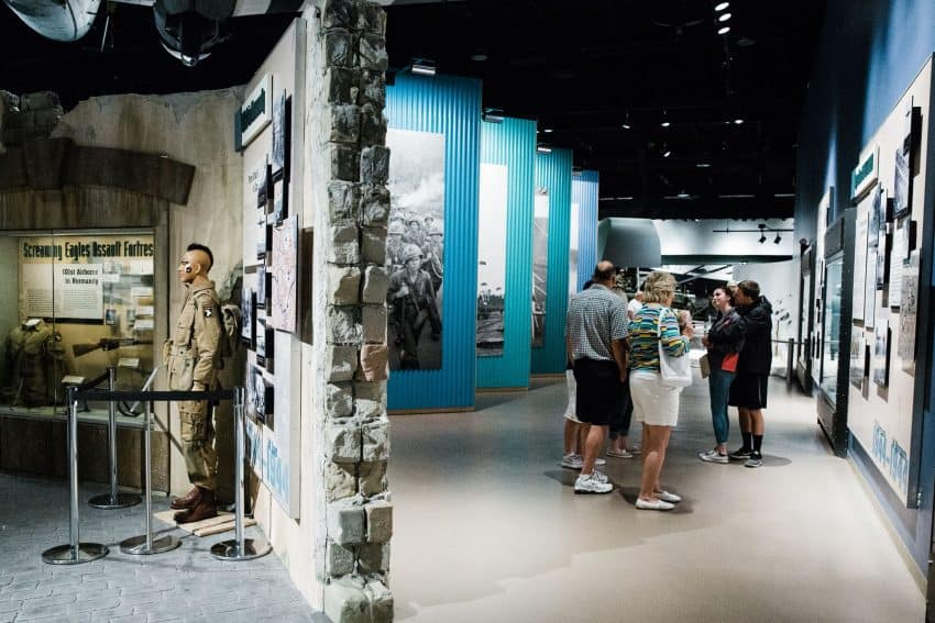 Visitors trace through the history of the U.S. Airborne and Special Forces divisions