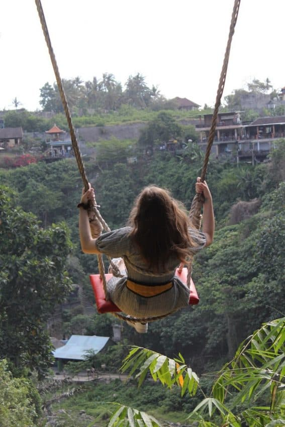 Yes, you have to pay to ride this swing in Bali! Locals make a lot of money from this!