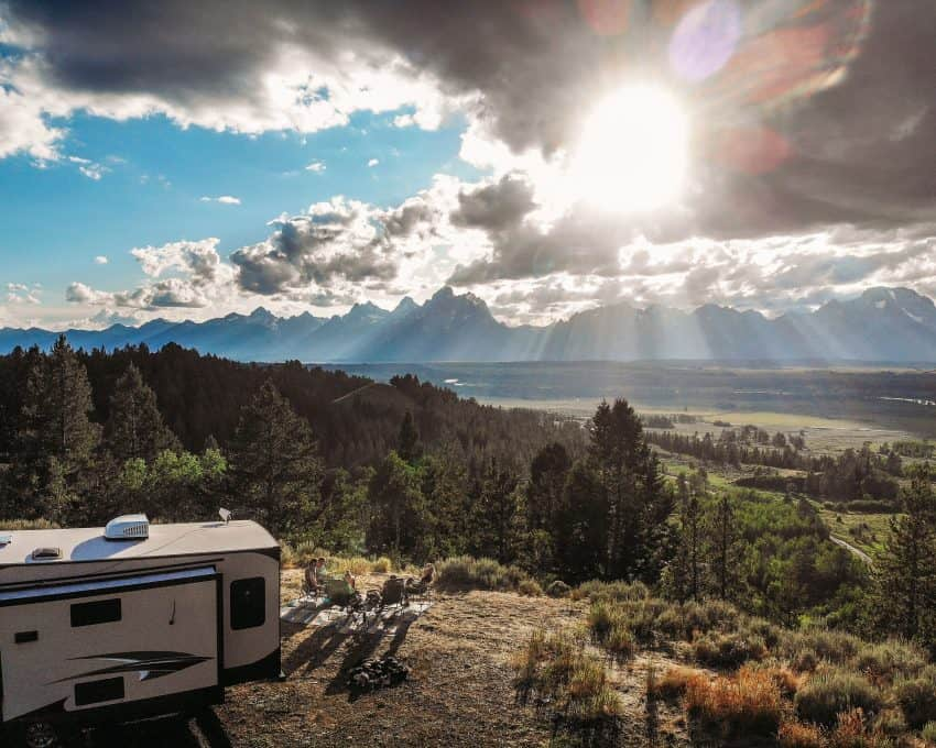 Pets and humans enjoy the relaxation of living in an RV.