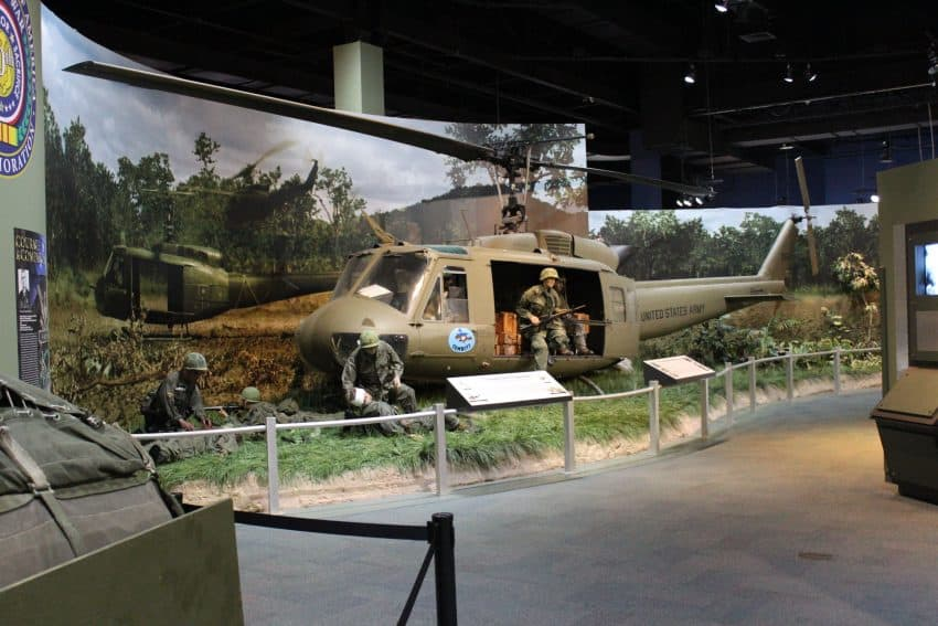 The airborne museum has tons of models