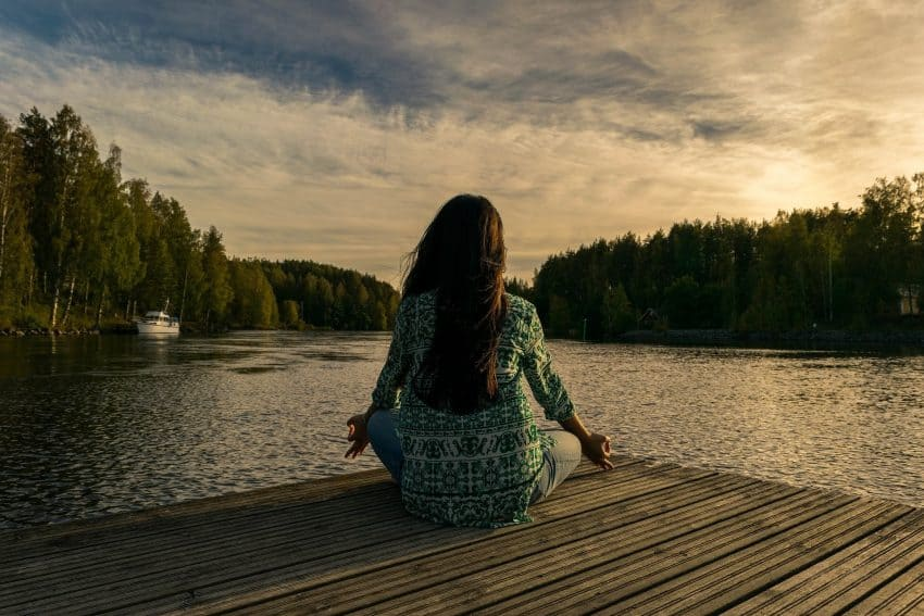 Living a simple life in an RV, time for yoga and other self-healing activities.