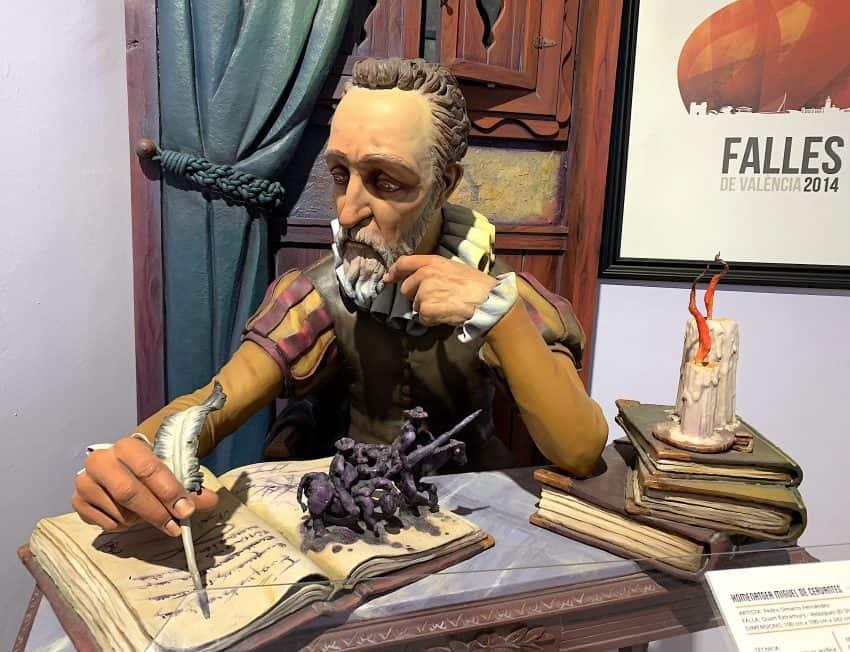 Miguel de Cervantes writes Don Quixote at Fallas Museum