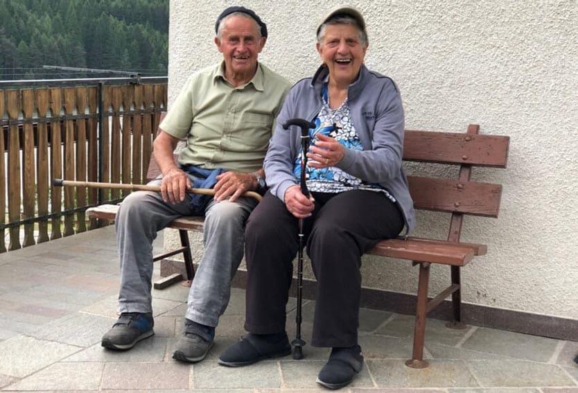 Friendly local men in Bedollo, Trento.