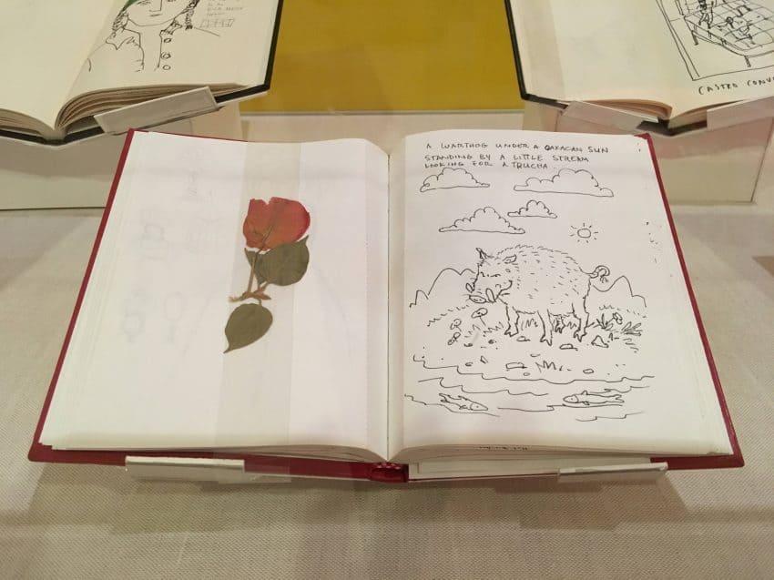 One of Illustrator Maira Kalman's sketchbooks at the Museum.