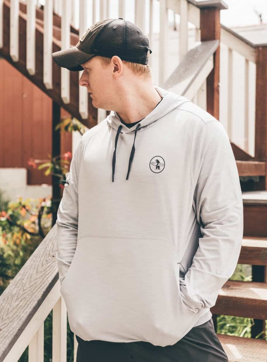 Everyday California SPF men's hoodie perfect for summer.