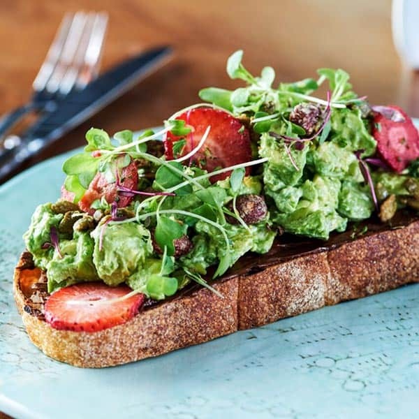 Avocado Toast at the Funny Library Coffee Shop
