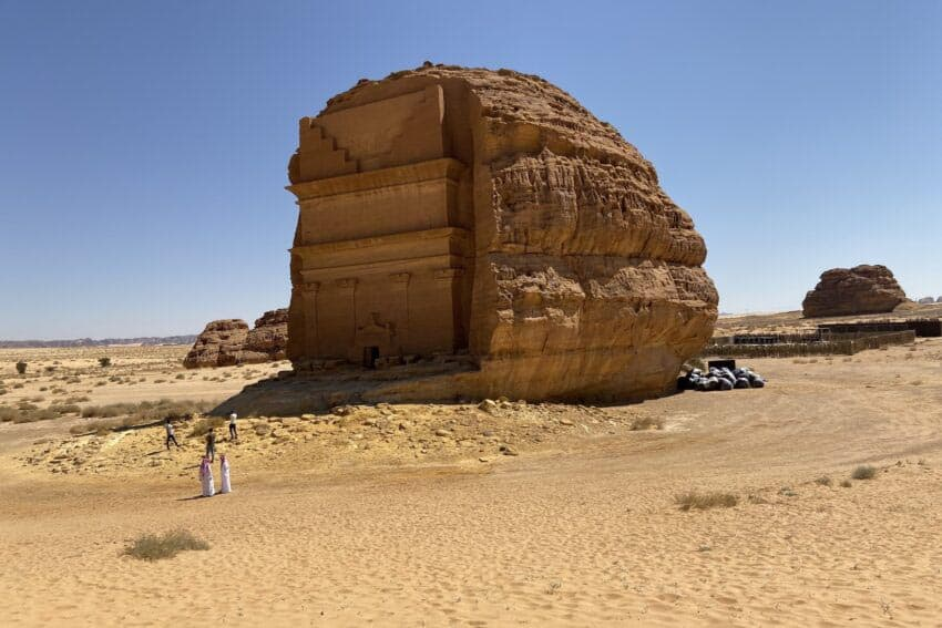The Nabataeans carved the tombs from the top down.