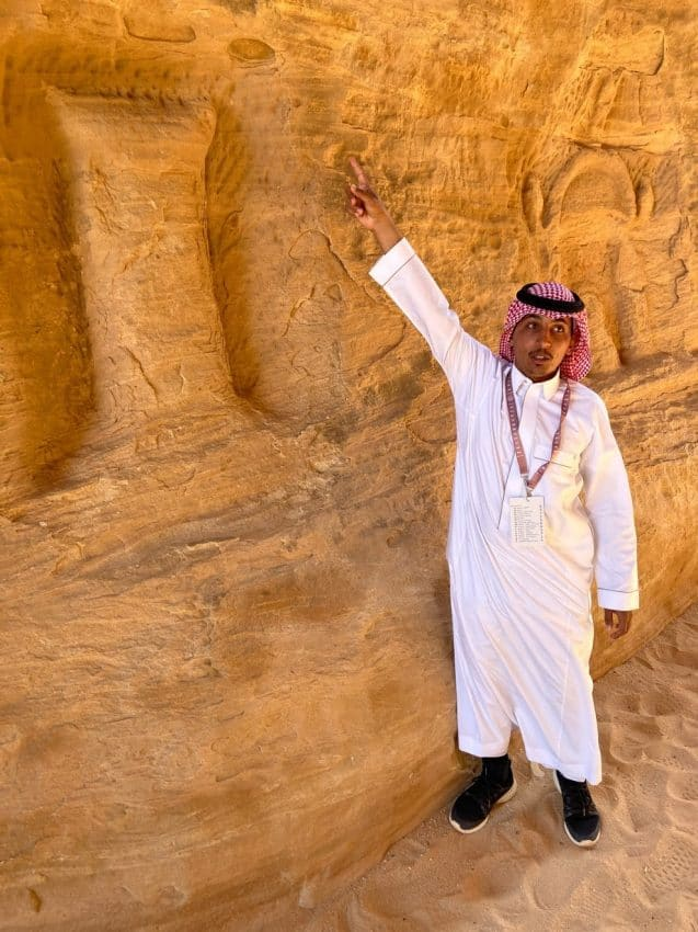 Arden, our guide, had been a guide only three months but the Al-Ula native knew everything about the Nabataean civilization.