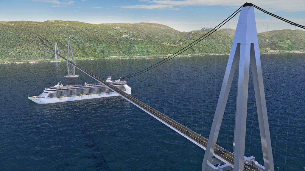 Some bridges need to allow ships to pass through Norway