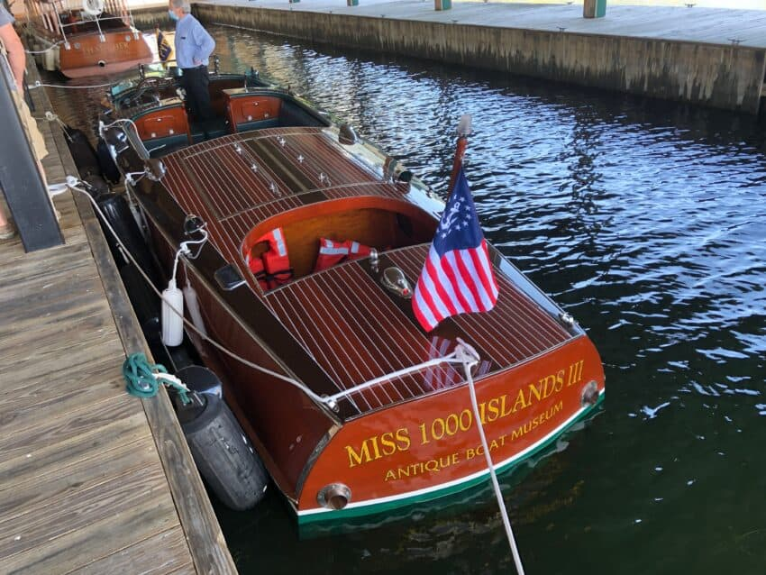 Antique Boat Museum's Miss Thousand Islands III, ready to roll.