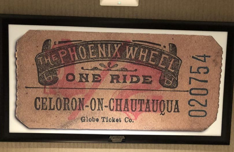 "There was once a ""Phoenix Wheel"" on the site of the circular bar area of the Chautauqua Harbor Hotel."