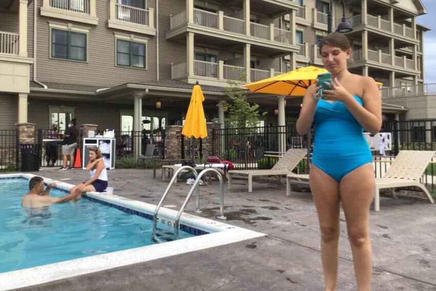 Chautauqua Harbor Hotel outdoor pool.