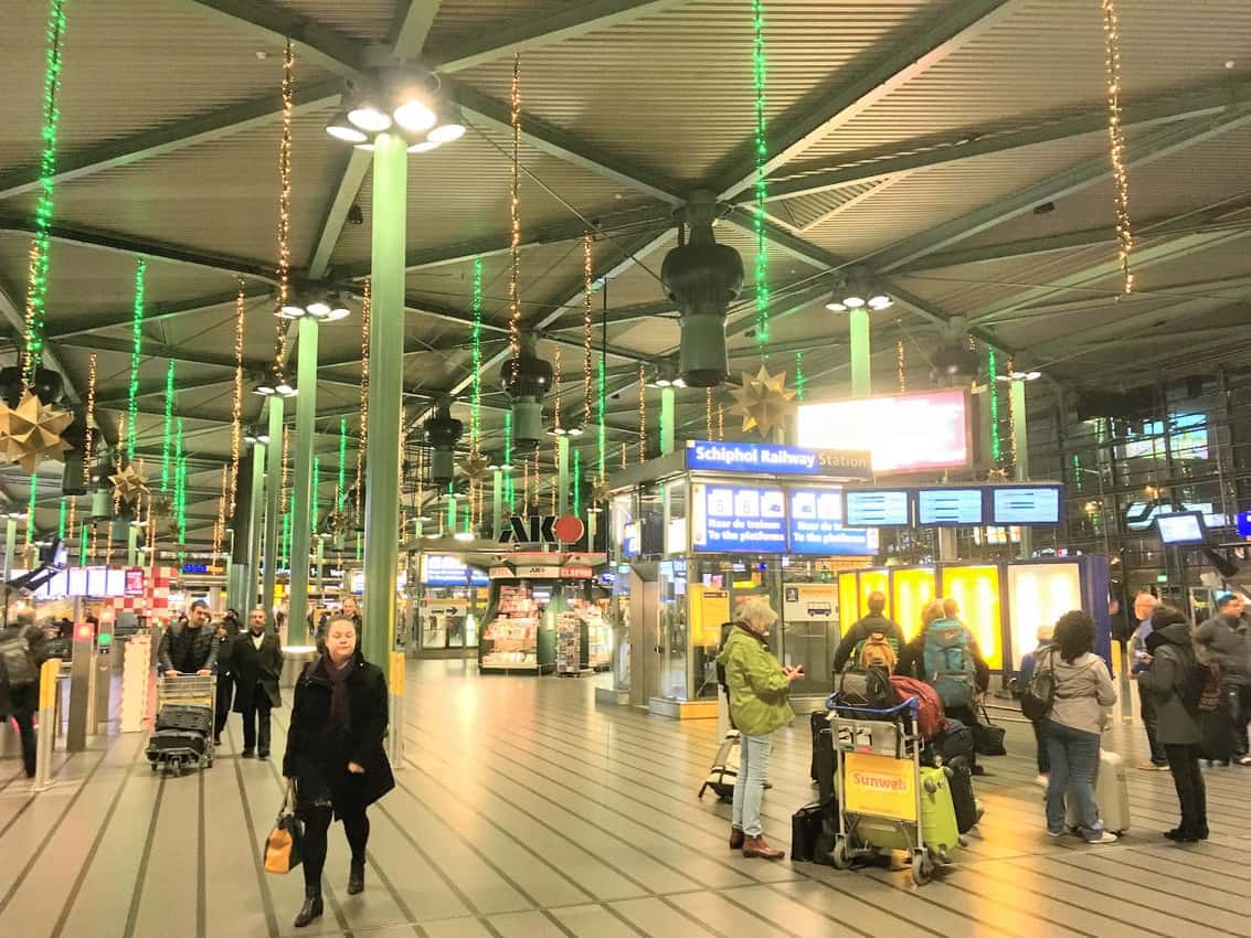 Surprised to be stopped at Amsterdam Schiphol International Airport