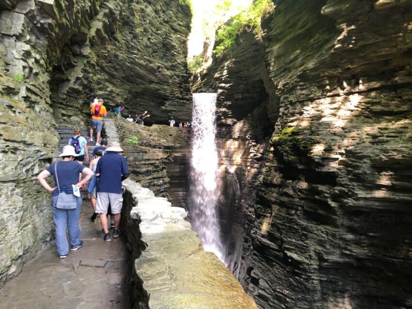 Watkins Glen has dozens of waterfalls.