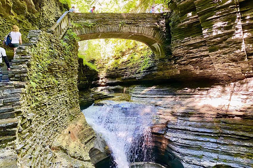 Watkins Glen State Park offers spectacular water views on a short hike up and around these natural rock formations.
