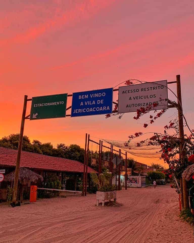 The sandy streets of Jericoacoara, Brazil.