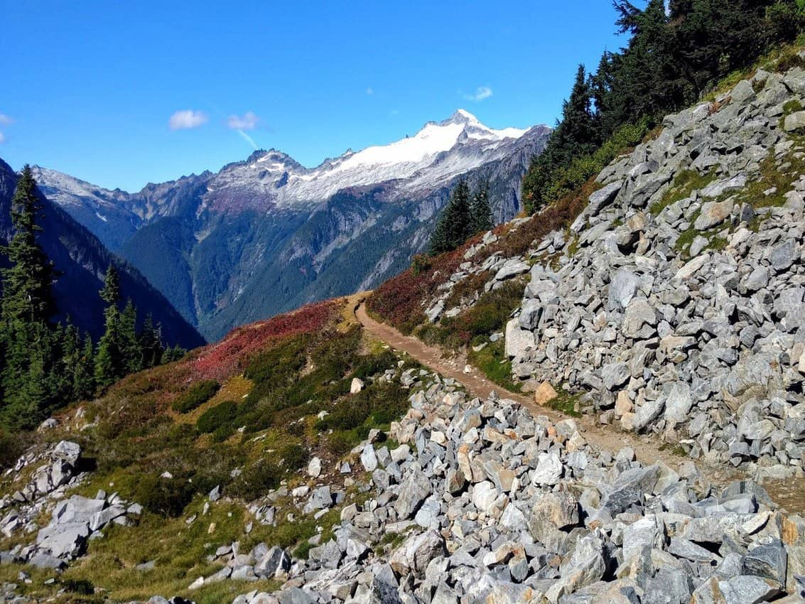 Cascade Pass Eldorado Peak hiking during the pandemic in Washington.