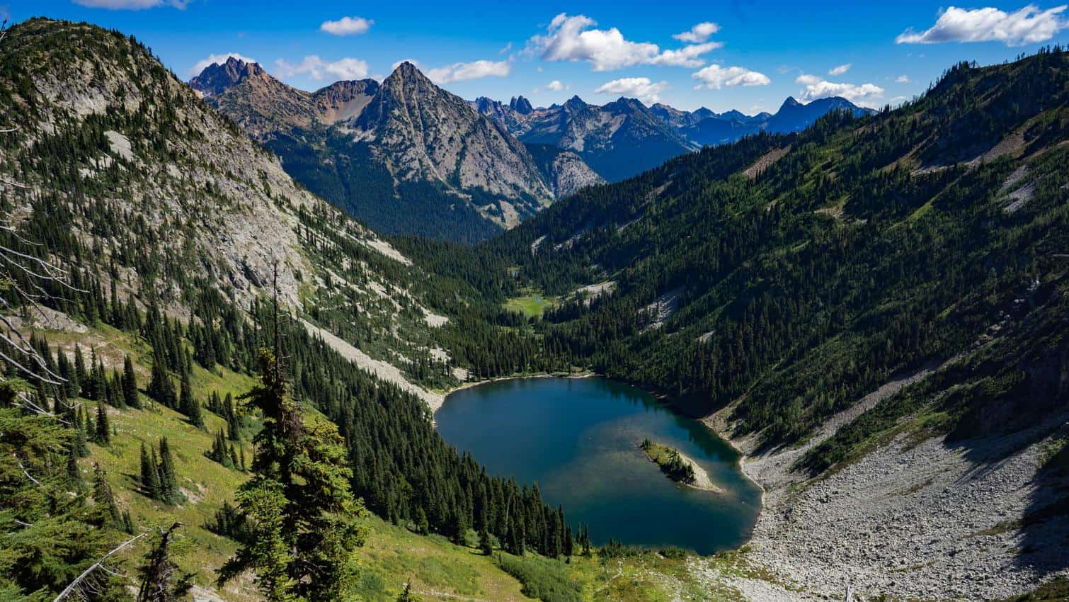 Cascade Pass great landscape of the North Cascades National Park